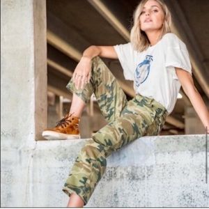 Free People Remy green camo pant